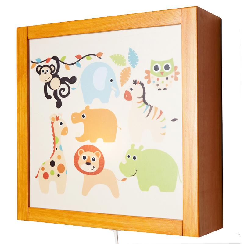 vama design kinder wandlampe safari led in 3 farben ebay. Black Bedroom Furniture Sets. Home Design Ideas