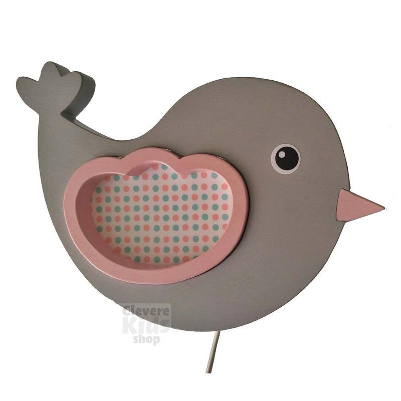 Vama design bambini lampada da parete uccellini grigio - Si possono portare passeggeri con il foglio rosa ...