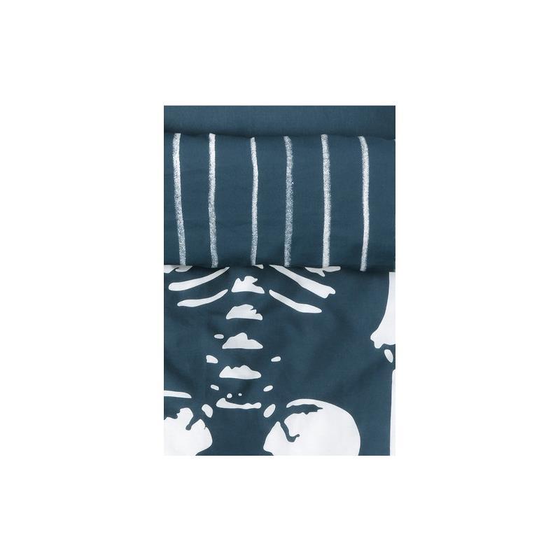 ikea kinder bettw sche garnitur skelett benrangel 140 x 200 ebay. Black Bedroom Furniture Sets. Home Design Ideas