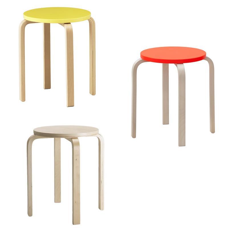 Ikea Hocker Frosta Birke Stapelbar In Drei Farben Ebay