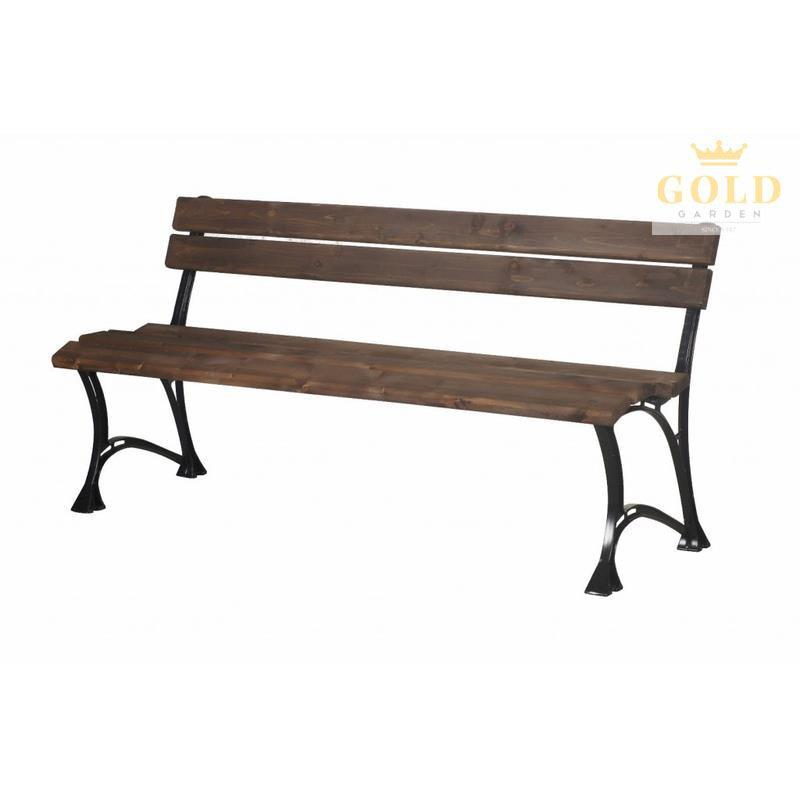 gold garden gartenbank toskana 4 sitzer 6 farben massivholz rahmen aluminium ebay. Black Bedroom Furniture Sets. Home Design Ideas