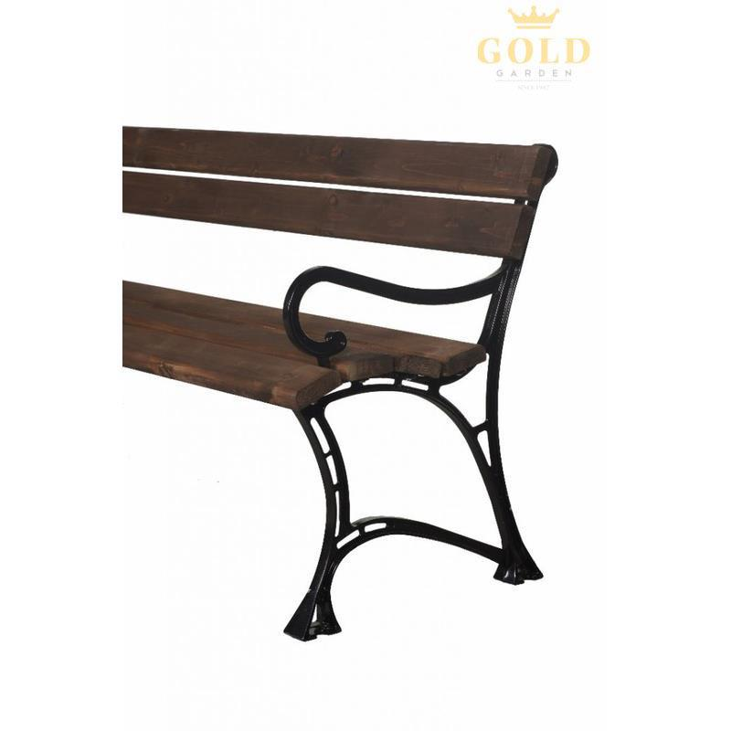 gold garden gartenbank toskana 4 sitzer 6 farben massivholz rahmen aluminium ebay. Black Bedroom Furniture Sets. Home Design Ideas