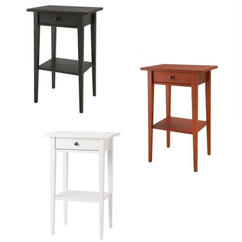 ikea ablagetisch hemnes nachttisch massivholz 3 farben ebay. Black Bedroom Furniture Sets. Home Design Ideas