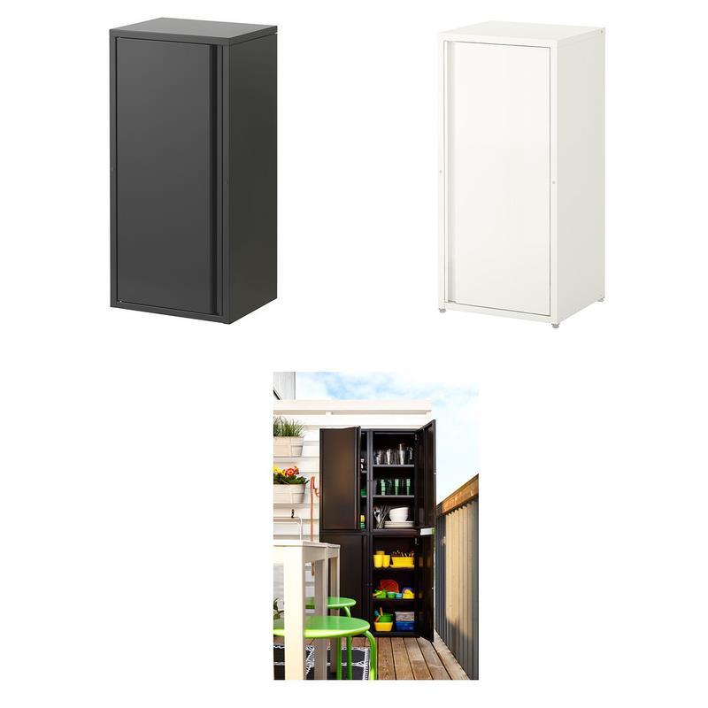 ikea schrank josef stahl verzinkt f r drinnen und drau en stapelbar ebay. Black Bedroom Furniture Sets. Home Design Ideas