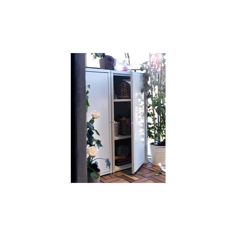IKEA Schrank JOSEF Stahl verzinkt für drinnen und draußen stapelbar ...