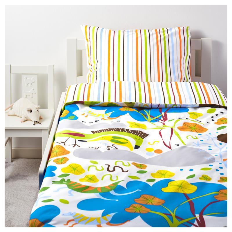 Ikea Kinder Bettwäsche Garnitur Naturskön 140 X 200 Ebay
