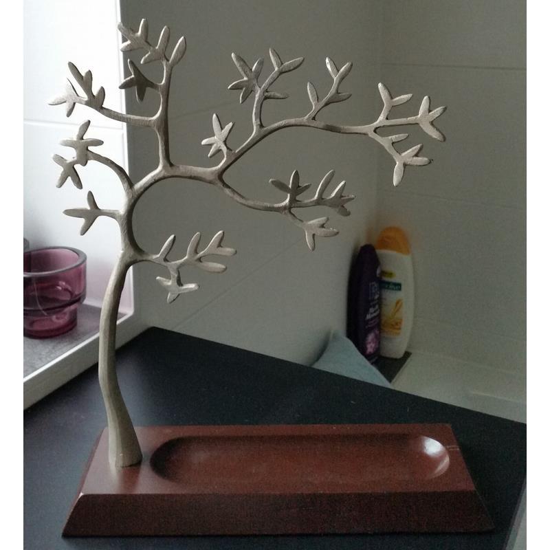Ikea arbre porte bijoux bois m tal 35 cm pr sentoir bijoux ebay - Meuble a bijoux ikea ...