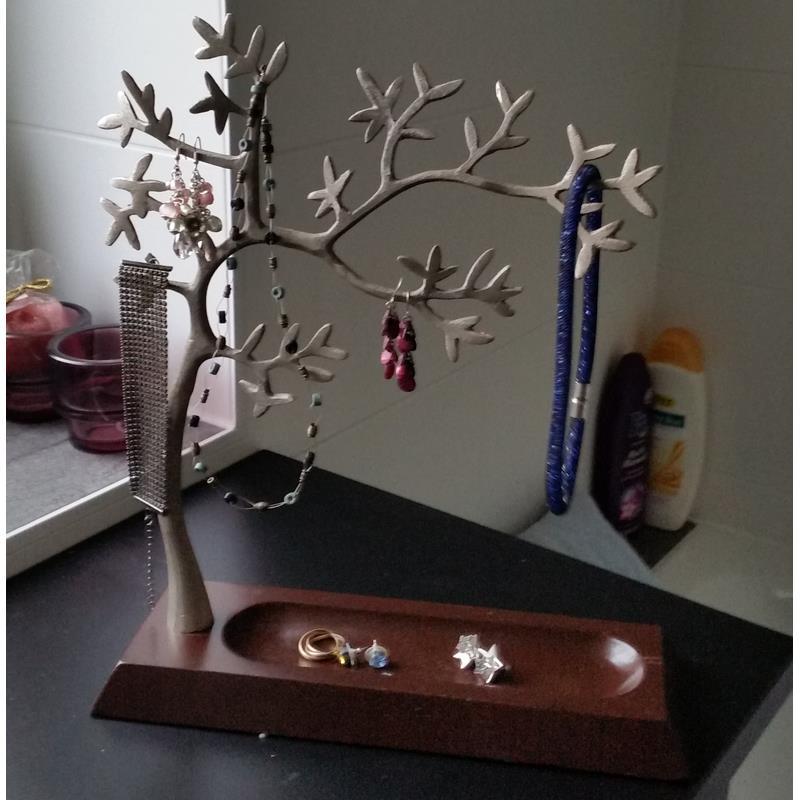 Ikea arbol joyero madera metal 35cm soporte de joyas ebay - Caja joyero ikea ...