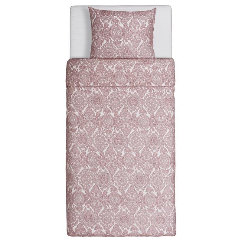 Ikea Bettwäsche Skörpil Drei Größen Weiß Rot Rosa Ebay