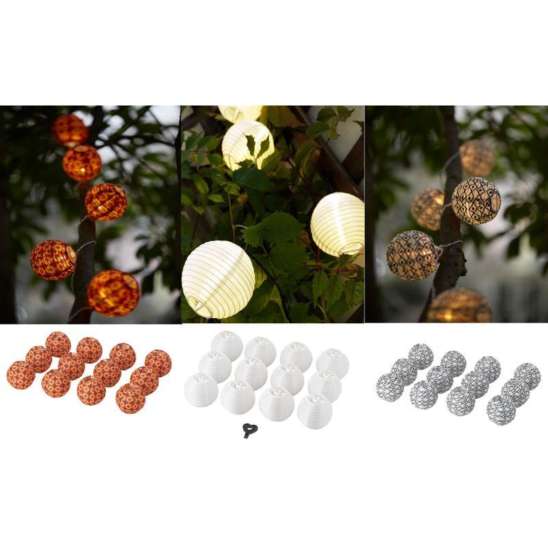Ikea Solvinden Dekokugeln Für Lichterkette 12 St Gartenbeleuchtung