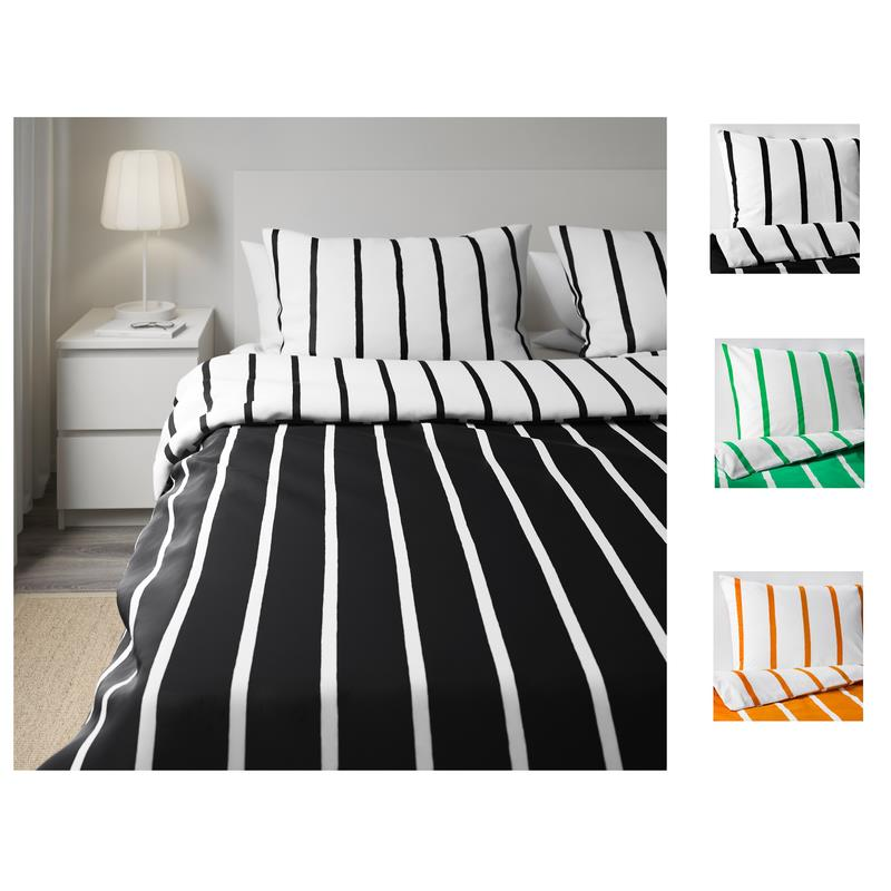 ikea bettw sche tuvbr cka bergr e 240x220 in 3 farben ebay. Black Bedroom Furniture Sets. Home Design Ideas