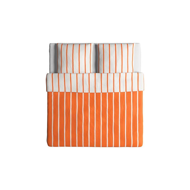 Ikea ropa de cama tuvbr cka naranja blanco rayado tres tallas ebay - Ropa de cama en ikea ...